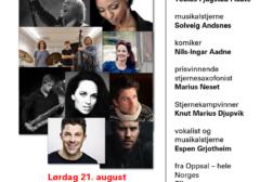 Stor konsert med mange stjerner på Haugerud 21. august