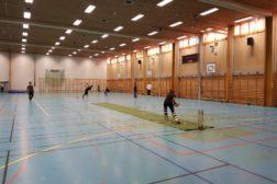 Cricketskole på Haugerud innendørshallen